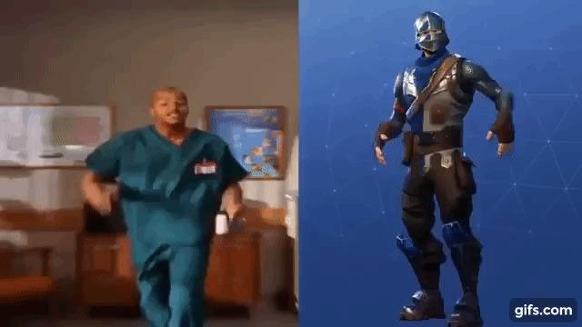 """Donald Faison, ator conhecido por interpretar o médico Chris Turk em """"Scrubs"""", foi a inspiração pela dança de """"Fortnite""""."""