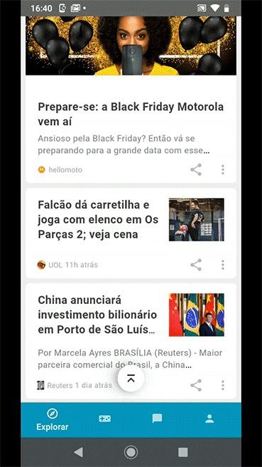 Hello You UOL Motorola - editando interesses
