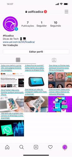 adicionar nova conta instagram gif2