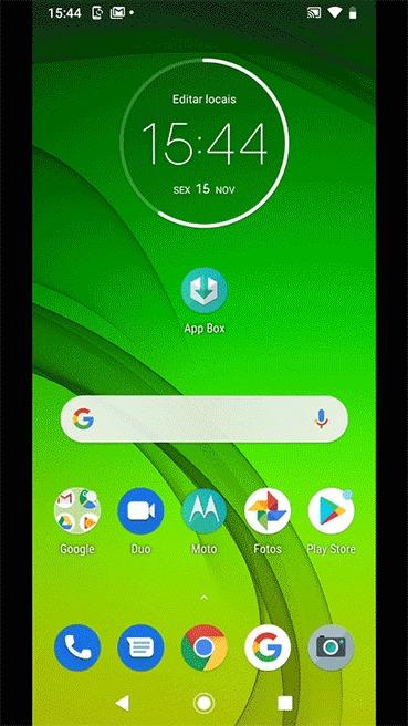 Hello You UOL Motorola - abrindo o app