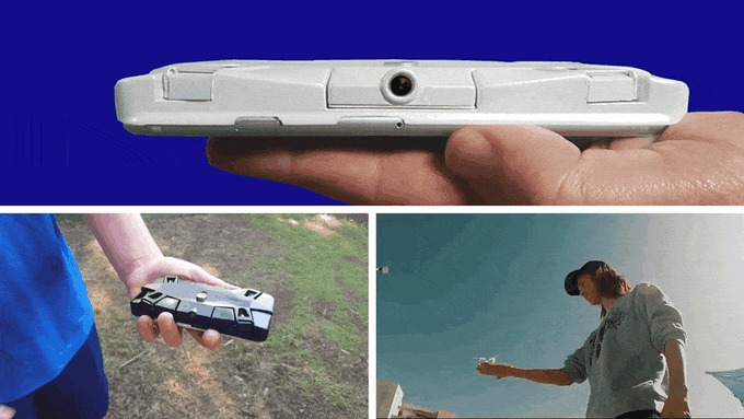 Selfly - drone na capa do celular