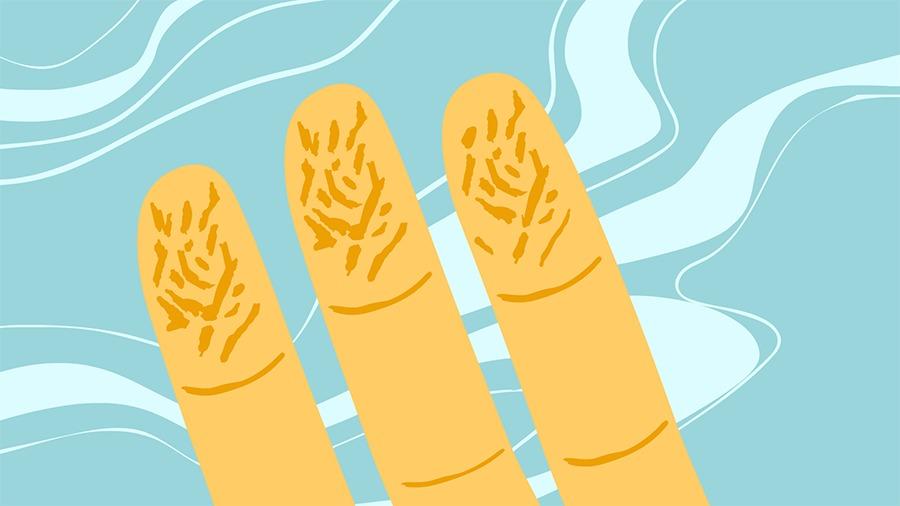 Pergunte Viva Bem dedos enrugados