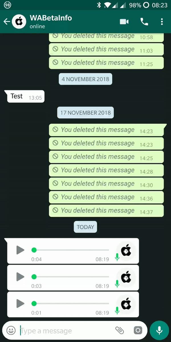 Áudios tocando em sequência no WhatsApp  - audios do whatsapp 1553878146825 g2 600x1200 - Bom pra quem curte áudio! WhatsApp vai deixar você ouvir tudo de uma vez