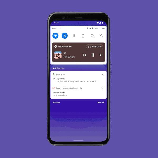Android 11 - controle de volume de dispositivos