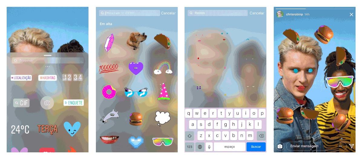 Instagram Stories começa a suportar GIFs