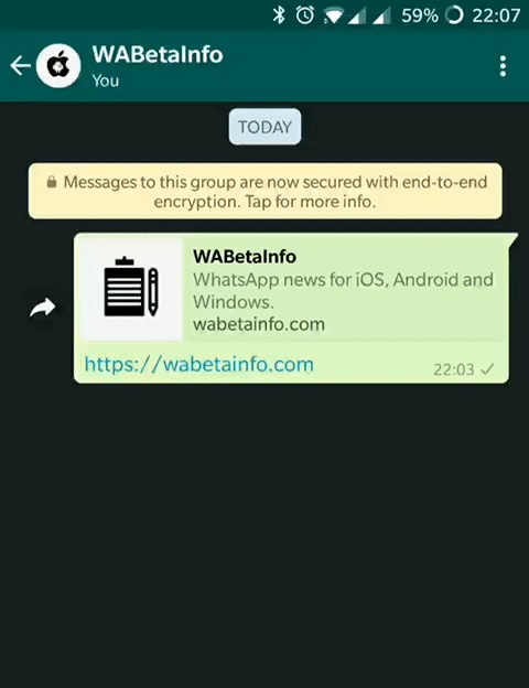WhatsApp - deslizar para responder