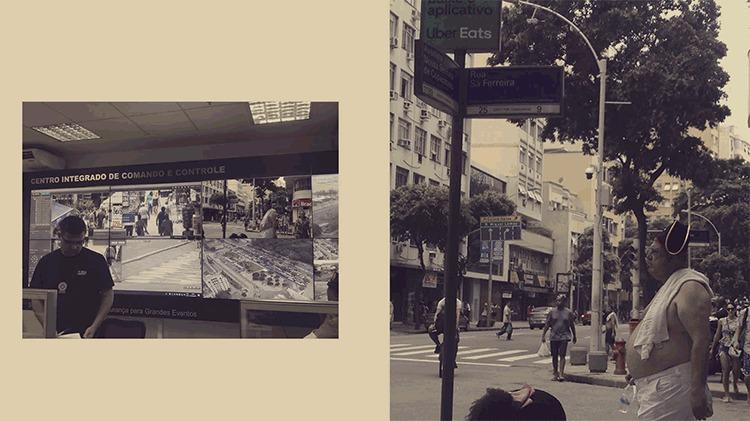 Câmera instalada em esquina da avenida Nossa Senhora de Copacabana manda imagem para central de controle no centro do Rio
