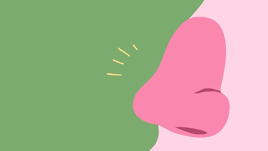 Pergunte dificuldade de respirar pelo nariz