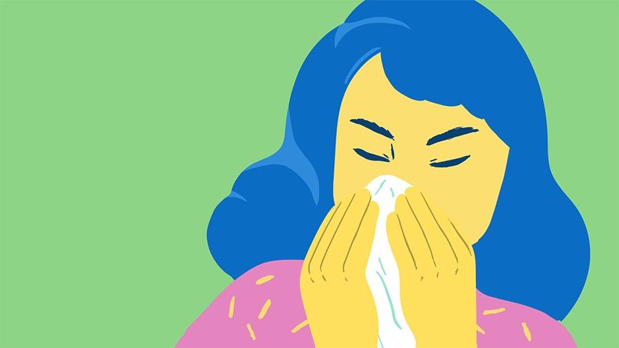 Pergunte Segurar espirro