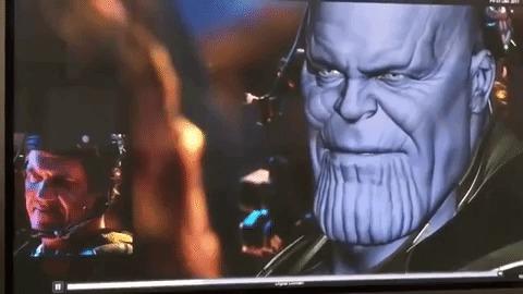 Transformação do ator Josh Brolin em Thanos