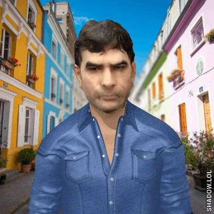 """Repórter do UOL no meme """"Deal With It"""" em 3D, feito com o celular Sony Xperia XZ1"""