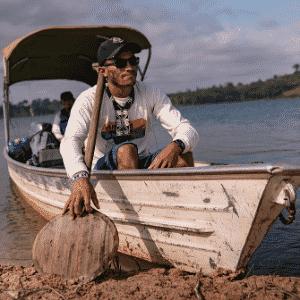 Natanael Juruna, morador da aldeia Müratu: ?Não sabemos se no futuro a gente vai ter condições de continuar vivendo aqui? - Iuri Barcelos/Agência Pública