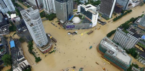 Tufão provocou inundações em regiões no leste da China