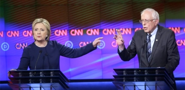 Hillary Clinton e Bernie Sanders participam de debate neste domingo (6) em Michigan