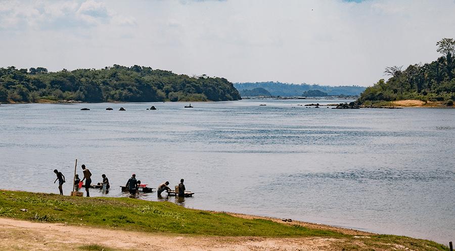 Porto da Ilha da Fazenda, em Senador José Porfírio (PA), onde será instalado o projeto Belo Sun