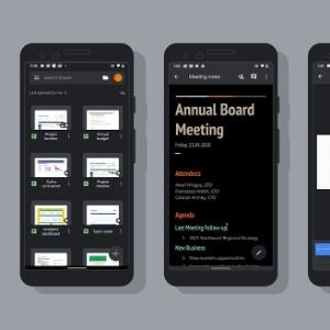 Um telefone com o lindo modo escuro ativado. Imagem: Google