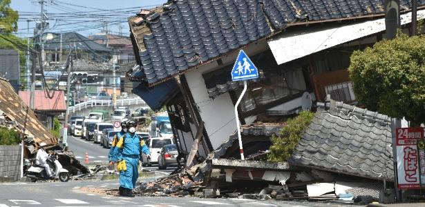 Dois tremores entre 14 e 16 de abril na cidade de Kumamoto, no sul do país, levaram 200 mil pessoas a deixarem suas casas