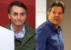 Boca de urna: Bolsonaro tem 56% e Haddad, 44%, diz Ibope - Ricardo Moraes/Reuters e Jales Valquer/FramePhoto/FOLHAPRESS