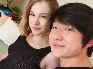 Pyong Lee e a mulher, Sammy, grávida de 34 semanas - Foto: Reprodução/ Instagram