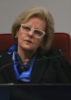 A ministra Rosa Weber durante audiência pública no Supremo Tribunal Federal sobre descriminalização do aborto