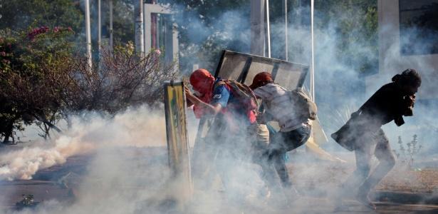 20.abr.2018 - Protestos de universitários em Manágua contra a reforma da Previdência na Nicarágua - Oswaldo Rivas/Reuters