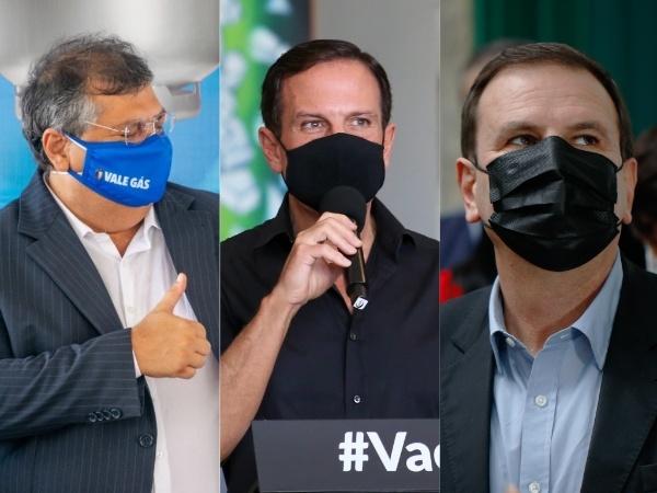 Divulgação/Governo do MA; Divulgação/Governo de SP; Daniel Resende/Estadão Conteúdo