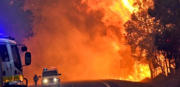 O fogo já consumiu um terço da cidade de Yarloop, a pouco mais de 100 km ao sul de Perth