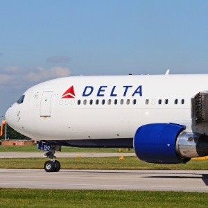 Getty Images titulo\tDelta Airlines Boeing 767.