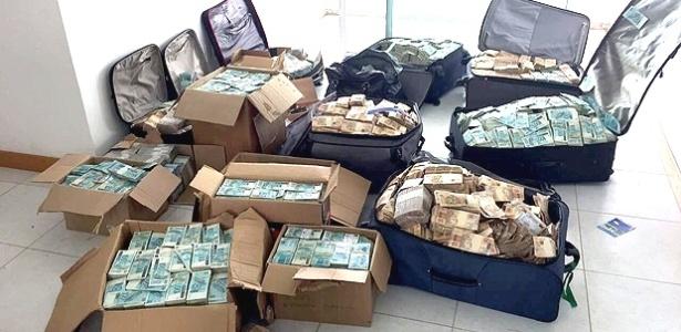 Malas de dinheiro encontradas em endereço em Salvador pela PF e atribuídas a Geddel