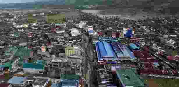A cidade de Polangui foi uma das mais afetadas pela tormenta - Charism Sayat/AFP