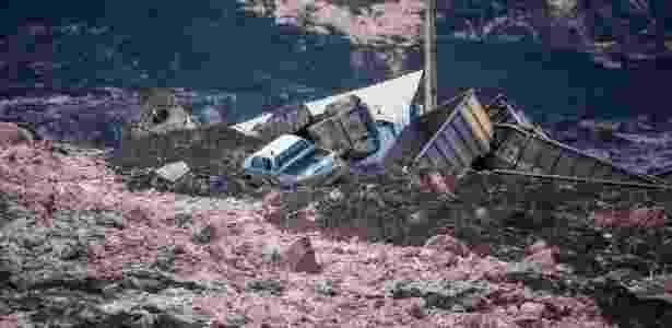 25.jan.2019 - Lama que se espalhou pela região de Brumadinho (MG) após rompimento de uma barragem da mineradora Vale - Cristiane Mattos/Futura Press/Estadão Conteúdo