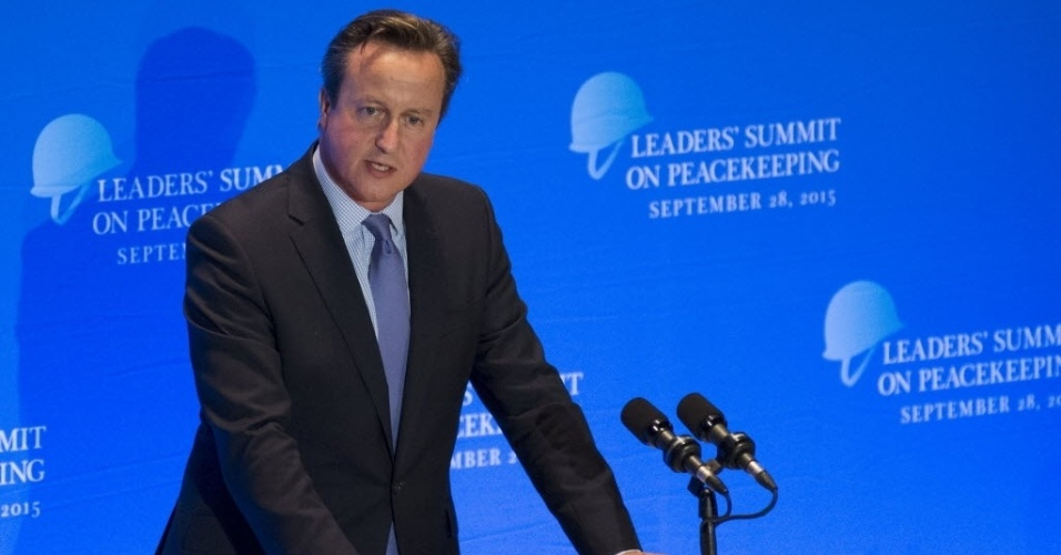 28.set.2015 ? O primeiro-ministro da Grã-Bretanha, David Cameron, discursou durante a Cúpula de Líderes em Manutenção da Paz, durante a Assembleia Geral das Nações Unidas, em Nova York, nos EUA