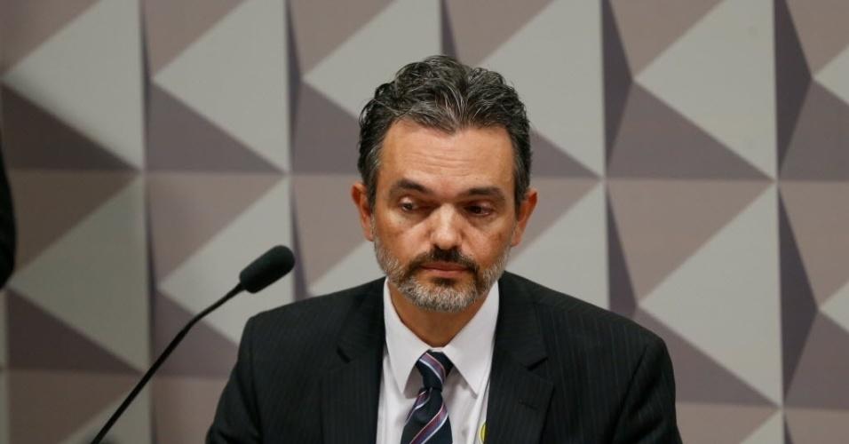 2.mai.2016 -  O procurador no Tribunal de Contas da União (TCU) Júlio Marcelo de Oliveira participa da sessão desta segunda-feira (2) da Comissão Especial do impeachment. A sessão d será dedicada a ouvir especialistas indicados pela acusação
