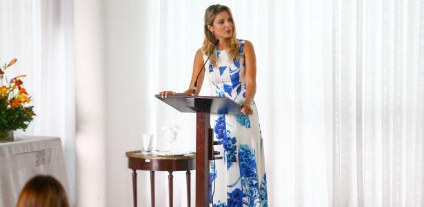 09.fev.2017 - Primeira-dama Marcela Temer discursa durante encontro com primeiras-datas estaduais