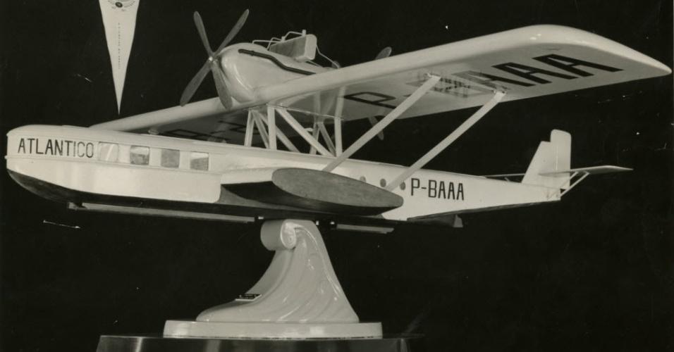 Miniatura do avião Atlântico, da Varig