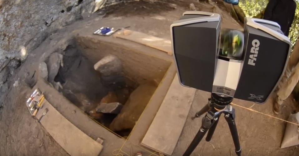 Escavação foi escaneada e reproduzida posteriormente com tecnologias