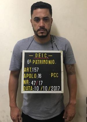 10.out.2017 - Fabiano Costa de Oliveira, suspeito de ter cargo de liderança no PCC