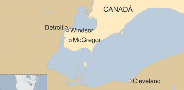 25.fev.2018 - Algumas pessoas em Windsor e Cleveland relataram terem escutado o ruído - BBC - BBC