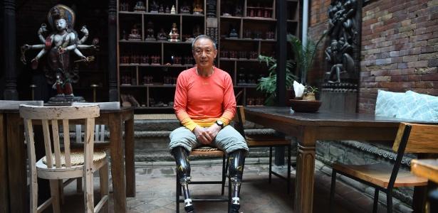 O alpinista chinês Xia Boyu vai tentar conquistar o Everest mesmo após ter amputado as duas pernas