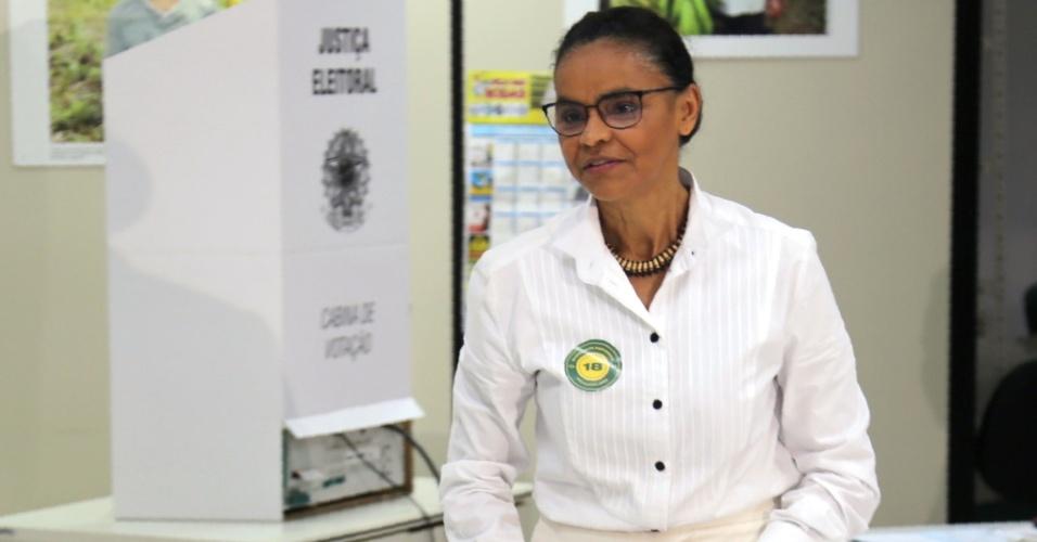 Marina Silva registra o seu voto em Rio Branco (AC)