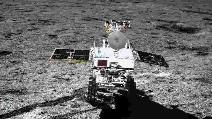 """Sonda chinesa Chang""""e-4 pousou no lado oculto da Lua - AFP"""