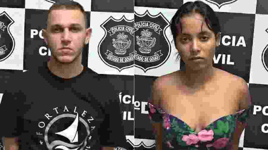 Marcos Vinicius e Gessica, conhecidos como Bonnie e Clyde do Cerrado, são presos em Goiás - Divulgação/Polícia Civil