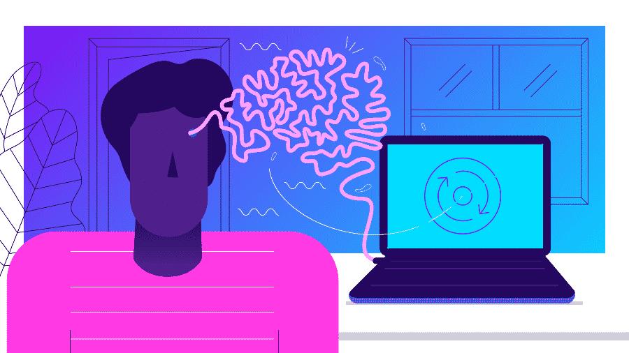 Um sistema para transferir memórias do seu cérebro para uma máquina? Não é tão impossível... - Arte UOL