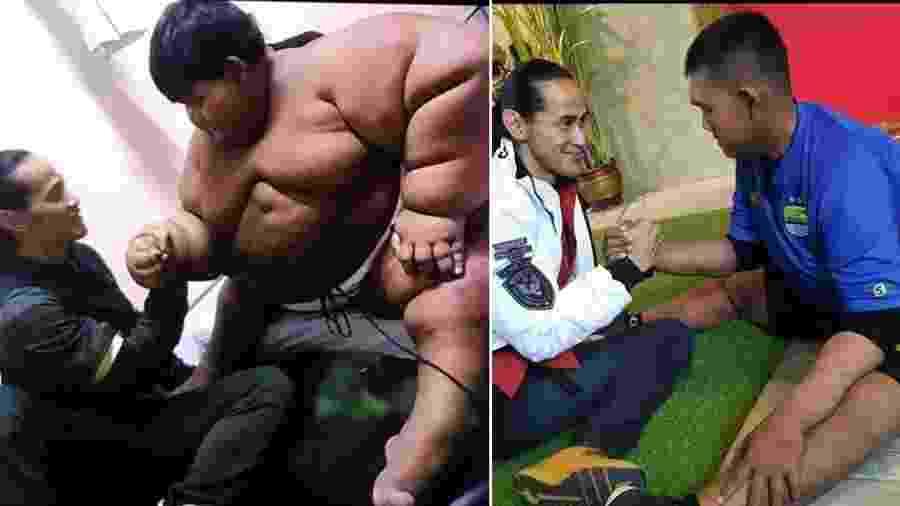 """Antes e depois de Arya Permana, apelidado de """"menino mais gordo do mundo"""", que perdeu 110 kg em 3 anos - Reprodução/Instagram/Ade Rai"""
