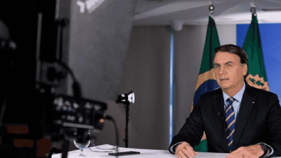 Bolsonaro adotou tom comedido em seu quinto pronunciamento desde o início da crise - CAROLINA ANTUNES / PR