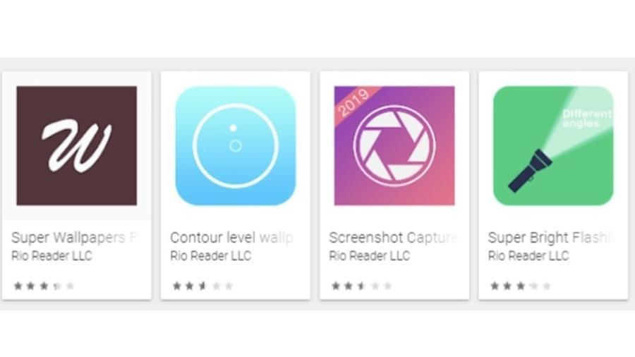 Apps da Rio Reader que foram retirados da Play Store - Reprodução/Evina