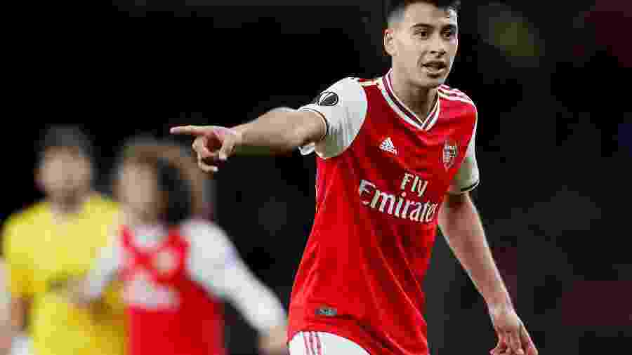 Atacante Gabriel Martinelli perdeu últimos jogos do Arsenal com lesão - David Klein