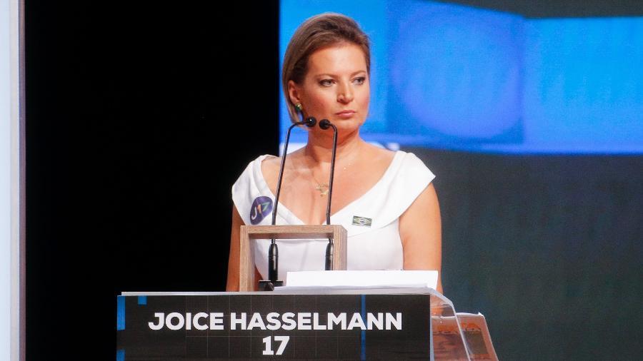 Joice Hasselmann (PSL) participa do último debate entre os candidatos à Prefeitura de São Paulo - DEIVIDI CORREA/ESTADÃO CONTEÚDO