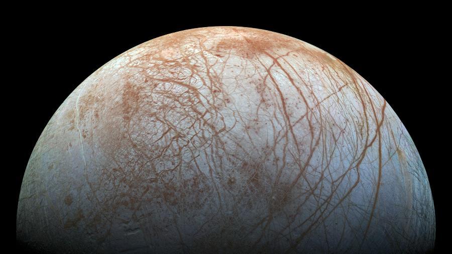 Europa, uma das luas de Júpiter - Nasa/JPL-Caltech/SETI Institute