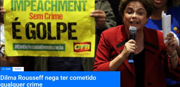 Reprodução do topo do site da TV portuguesa RTP - Reprodução/RTP.pt